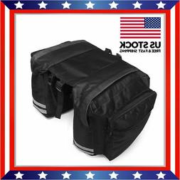 Black 600D 20L Bicycle Rear Rack Seat Saddle Bag Travel Cycl