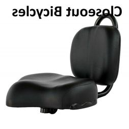 BLACK Bike Seat with Backrest for Lowrider bicycle Beach Cru