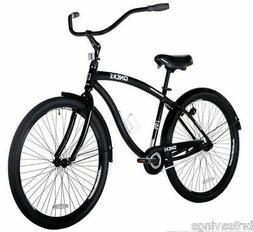 "Black 29"" Cruiser Bike Men's Bicycle Genesis Onyx Aluminum F"
