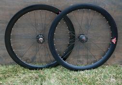 Black Fixed Gear Track Bicycle WHEELS DeepV Rim FlipFlop Sea