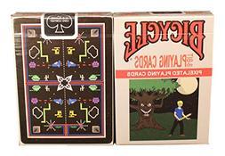 Bicycle 8-bit Black Playing Cards