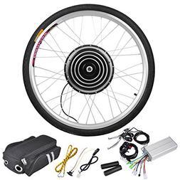 Black 26 Inch Rear Wheel Electric Bicycle Motor Conversion K