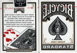 Black Standard Bicycle Playing Cards Poker Size Deck USPCC N