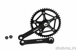 Prowheel Black Strong Forged 46T Crank Set Single Speed BMX