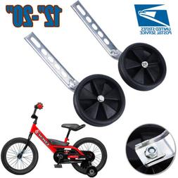 "Black Universal Fit Training Wheels for 12"" - 20"" Bike Kids"