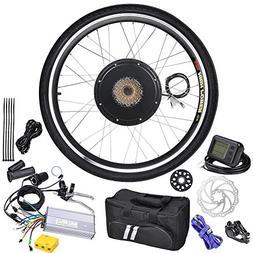LCD Black Wheel Electric Bicycle Motor Kit 48v 1kw 26in
