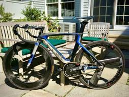 blue competition lehigh carbon track bike complete