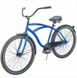 "Blue Cruiser Bike 26"" Men Huffy Traditional Comfort Commuter"
