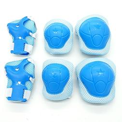 Cooplay 6pcs Small Size Sky Blue Color Elbow Wrist Protectiv
