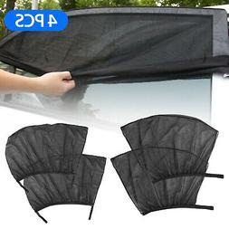 4PCS Auto Sun Shade Front Rear Window Screen Cover Sunshade