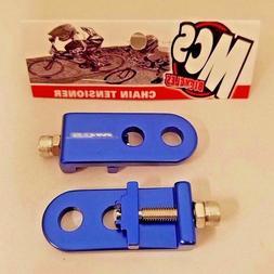 "Pair MCS BMX Chain Tensioners 3//8/"" Blue"