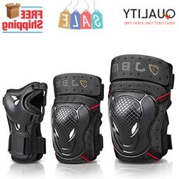 JBM BMX Bike Knee & Elbow Pads with Wrist Guards Protective