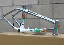 COLONY BMX BIKE OZ-ONE BICYCLE FRAME BRUSHED CHROME/WHITE OZ