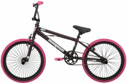 BMX Girls Bike 20 inch Pink/black freestyle pegs single-spee