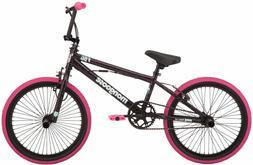 BMX Girls Bike 20 inch Pink/black freestyle pegs single-spee
