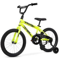 Boy/Girl Bike, 18 inch, Neon Yellow, Rock It EZ Build By Huf