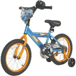 "DYNACRAFT BOYS 16"" HOT WHEELS BIKE, BLUE *DISTRESSED PKG"