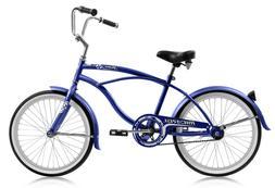 Boys 20 inch Micargi Jetta Beach Cruiser Bike Junior Blue Bl