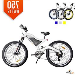Bpmimports BPM F-35 White 750W 11.6AH 48V Fat TIRE Electric