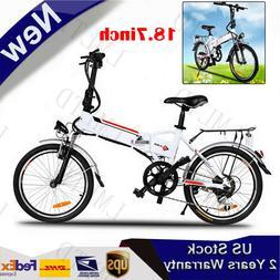 Brand 36V Folding Electric Bicycle Mountain Bike Ebike W/ Li