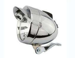 Bullet Light W/Visor 2/Bulb Chrome. Bike light, bicycle ligh