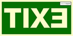 RHINO STICKERS -Business Emergency exit sign - 6 Inch  Vinyl