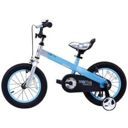 Royalbaby Buttons Kids Bike 18 Inch Wheels Matte Blue Bicycl