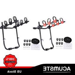 Car Rear For 3 Bike Rack Trunk Hitch Mount Carrier Adjustabl