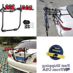 Car Trunk Mount Bicycle Rack 3 Bike Carrier Holder Truck SUV