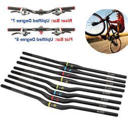 Carbon Bicycle Handlebars MTB Cycling Road Bike Flat Riser B