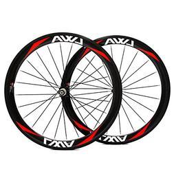 LVWA full 3K carbon fiber bike wheelset clincher Road bicycl