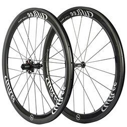 Wilee Bike Carbon Fiber Road Bike Wheels 700C 50mm Glossy 23