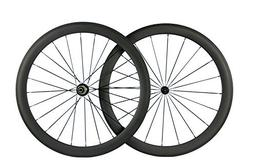 Queen Bike Carbon Fiber Road Bike Wheels 50mm Clincher Wheel