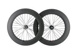 Queen Bike Carbon Fixed Gear Wheelset 700C 88mm Track Wheel