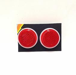"""Card of 24 Sunlite Carded 1/"""" Reflectors All Red"""