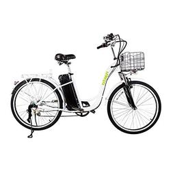 "26"" 250W Cargo Electric Bicycle 6-Gear Speed Sporting Ebike"