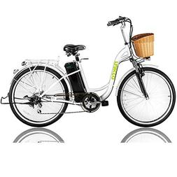 "NAKTO 26"" 250W Cargo Electric Bicycle Sporting Shimano 6 Spe"