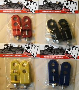 "Axles//Pair 10mm SE RACING BIKES BMX Chain Tensioner Adjuster Alloy 3//8/"""