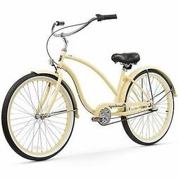 Women's Chief Beach Cruiser Bike, Vanilla
