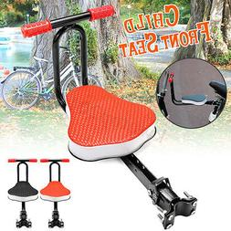 Child Bike Seat Front Mount Toddler With Thickened Soft Padd