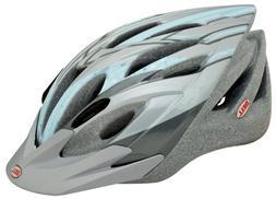 Chloe Mountain Girl Sassy Womens Bike Helmet, Gray Blue Cott