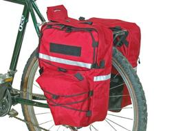 Bushwhacker Cimmaron Red - Bicycle Pannier w/ Reflective Tri