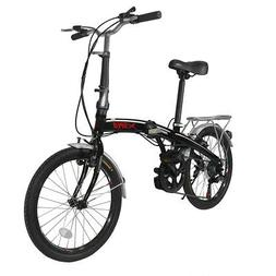"Xspec 20"" 7 Speed City Folding Mini Compact Bike Bicycle Com"