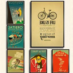 classic movie <font><b>bike</b></font> poster kraft paper pr