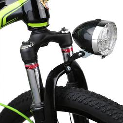 Classical Black Vintage Bicycle Bike 3 LED Light Headlight F