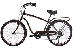 Gama Bikes Clubman 26-Inch Cafe 6 Speed Shimano Cruiser Bicy