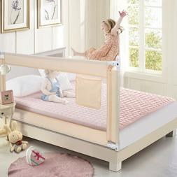 """Swing Down Bed Rails Crib Toddler Child Safety 70"""" Extra Lon"""