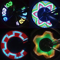 Colorful Rainbow 32 LED Wheel Signal Lights for Cycling Bike