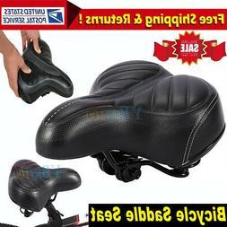 Comfort Wide Big Bum Bike Bicycle Sporty Soft Pad Saddle Sea