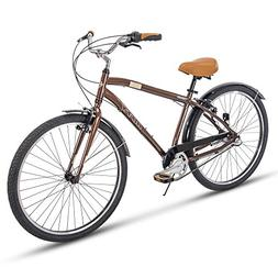 Huffy Mens Commuter Bike, Hyde Park 27.5 inch 3-Speed, Light